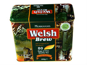 Image: Welsh Brew Tea Bags Caddy